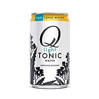Q Mixers Light Tonic Water, Premium Cocktail Mixer, 7.5 oz (12 Cans)