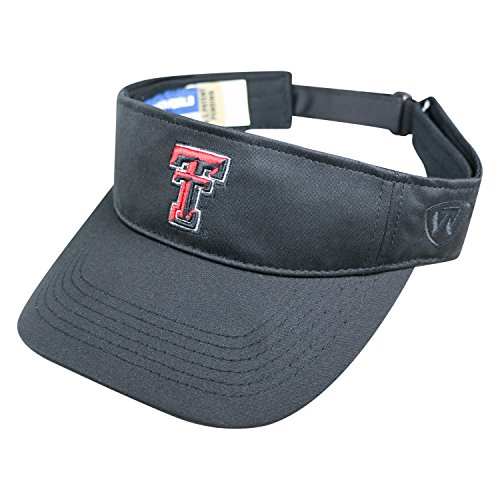 Top of the World Texas Tech Red Raiders Hawkeye Visor Hat - NCAA Adjustable Black Golf Cap Raiders Eye