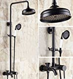 GOWE Luxury Oil Rubbed Bronze Bathroom Shower Faucet Set Tub mixer Tap Shower Column