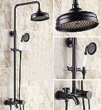 GOWE Luxury Oil Rubbed Bronze Bathroom Shower Faucet Set Tub mixer Tap Shower Column