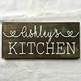 Cheap Personalized Custom Name Kitchen Rustic Wooden Sign 12″X6″