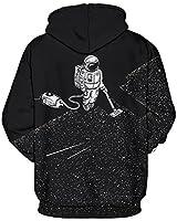 GLUDEAR Unisex Realistic 3D Digital Print Pullover Hoodie Hooded Sweatshirt,Robot,L/XL