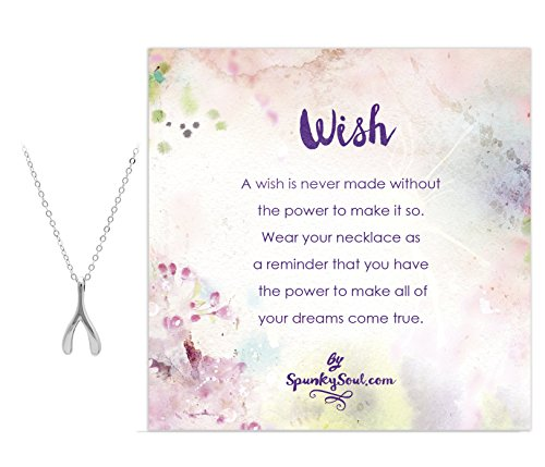 Sterling Wishbone Necklace SPUNKYsoul Collection