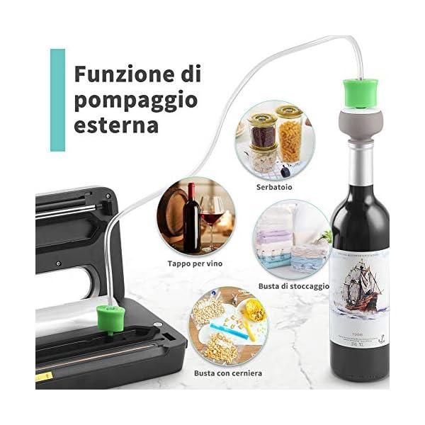 Yissvic Macchina Sottovuoto per Alimenti con Taglierina incorporata e Contenitore per Rotoli, Macchina Sottovuoto… 3