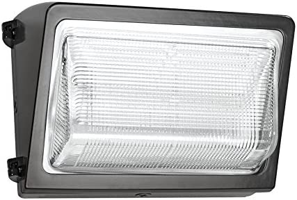 3000 K Color Temperature White Finish 105W Standard Type RAB Lighting WPLED3T105YW//480//PCS4 Ultra High Output//Efficiency LED Wallpack Warm