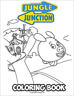 Amazon Com Jungle Junction Coloring Book Coloring Book For Kids