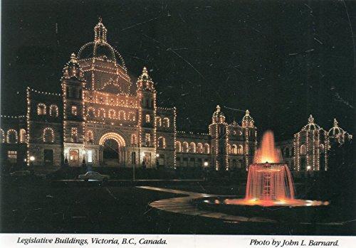 Post Card: Legislative Buildings, Victoria, B.C., Canada, Photo by John L. Barnard, Vancouver Island, Canada, PUblished by J. Barnard Photographer LTD, Printed in Australia, A1020, Peacock Post ()