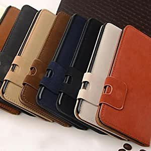 LCJ Wallet Style Squirrel PU Leather Full Body Case with Stand and Card Slot for Samsung Galaxy S6 G9200 (Assorted Colors) , Dark Brown