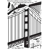 Golden Gate Bridge Silhouette Wall Decal