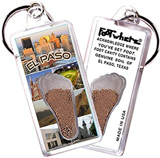 "product image for El Paso""FootWhere"" Souvenir Keychain. Made In USA (EP101 - Collage)"