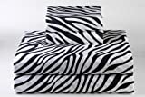 400 Thread Count Luxurious 100% Egyptian Cotton Set of 4 Short Queen 60x75 (1 Fitted sheet,1 Flat Sheet, 2 Pillows covers) for Camper/RV by Rajlinen (Zebra Print)