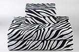 Dreamy Linens Black Zebra Print Sheet Set, Twin
