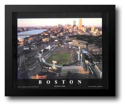 Fenway Park Artwork (Boston, Massachusetts - Fenway Park 32x26 Framed Art Print by Smith, Mike)