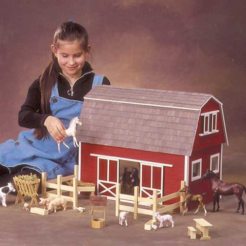 Dollhouse Miniature Ruff-n-Rustic All American Barn Kit by Real Good Toys
