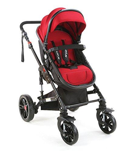 LuvLap Premier Pram -Purple ( For Babies upto 25 kgs)