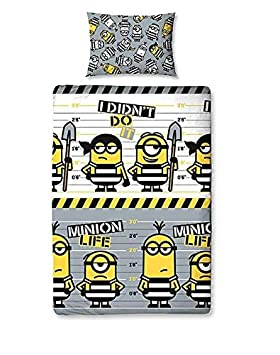 Pack of 2 Minions Single Duvet Cover/&Pillowcase/&Set Curtains,Kids Duvet Cover. Duvet Cover Set /&Set Curtains