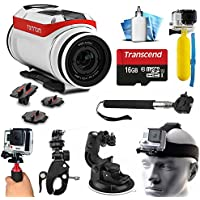 TomTom Bandit 4K HD Action Camera with Extreme Sports Accessories Kit includes 16GB MicroSD Card + Selfie Stick + Head Strap + Floating Handle + Stabilizer + Car Mount + More!