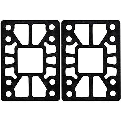 Angled Riser Pads - Khiro Hard Wedge / Angle Black Skateboard Riser Pads - 1/4