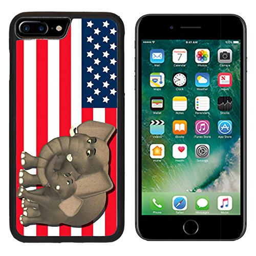 State Mascot Baby Mobile (MSD Premium Apple iPhone 7 Plus Aluminum Backplate Bumper Snap Case iPhone7 Plus IMAGE ID: 13768414 Illustration of a mother with a baby in front of the flag of the united states of america)