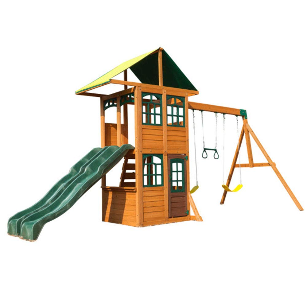 Big Backyard Treasure Cove木製スイングSet by KidKraft B075MNK8DG