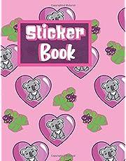 "Sticker Book: Cute Koala Bear Pink Heart Blank Sticker Album for Collecting Stickers Fantastic Koala Gift,100 pages, 8.5"" x 11"""