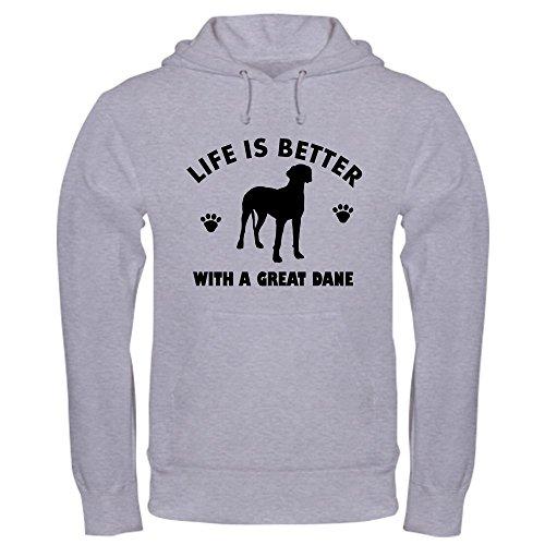 - CafePress Great Dane breed Design Hooded Sweatshirt Pullover Hoodie, Classic & Comfortable Hooded Sweatshirt Heather Grey