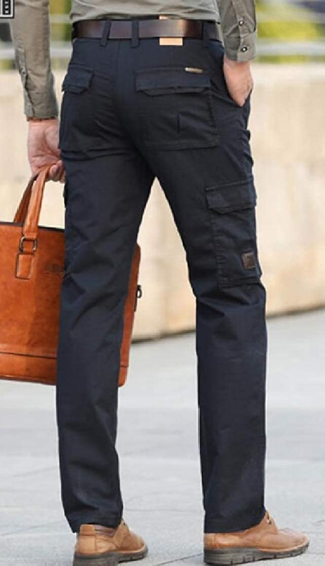 Cromoncent Mens Big and Tall Straight Fit Multi Pockets Cargo Combat Pants Trousers