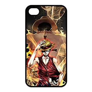 4S Case,TPU iPhone 4s Case,One Piece Design Fashion Pattern Hard Back Cover Snap on Case for iPhone 4 / 4s (Black/white)