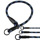 BronzeDog Rope Dog Choke Collar, Braided Training Slip Collars for Dogs Small Medium Large Puppy (M - 19.7 Long) Larger Image