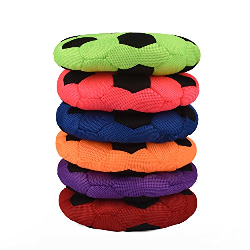 Bintiva Cushioned Spot Markers - Set of 6 Washable Seating Cues in Bright Colors - Large 14'' Diameter by bintiva (Image #1)