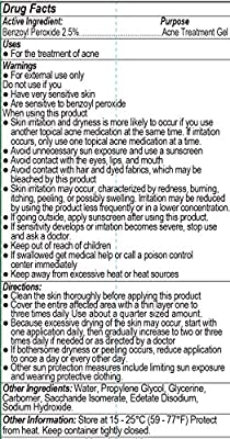 2.5% Benzoyl Peroxide Dr Song Acne Gel Treatment Lotion (8 oz)