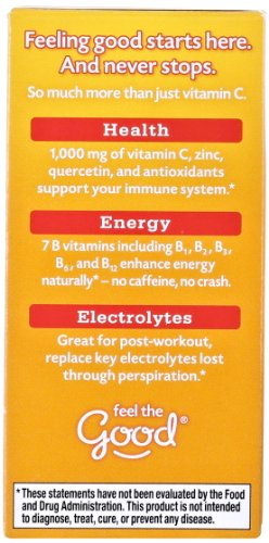076314302970 - Emergen-C Dietary Supplement Drink Mix with 1000 mg Vitamin C, 0.32 Ounce Packets, Caffeine Free (Super Orange Flavor, 10 Count) carousel main 4