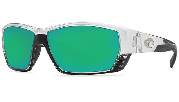 1288b2540c47 New Costa Del Mar Tuna Alley 580G Crystal/Green Polarized Sunglasses