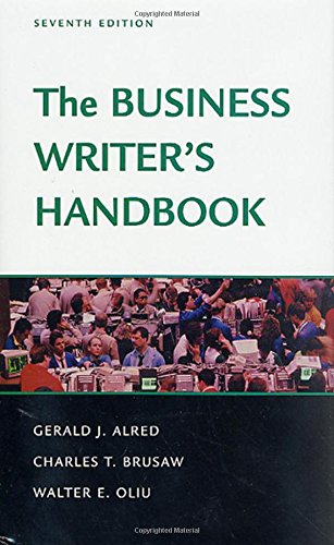 The Business Writer's Handbook: Seventh Edition