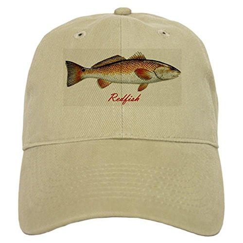CafePress Redfish Cap Baseball Cap with Adjustable Closure, Unique Printed Baseball Hat Khaki