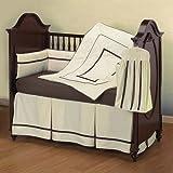 Baby Doll Bedding Hotel Style Crib Bedding Set, Ecru