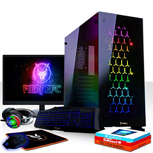 Fierce RGB Gaming PC Bundle - Intel Core i5 8600 4 3GHz