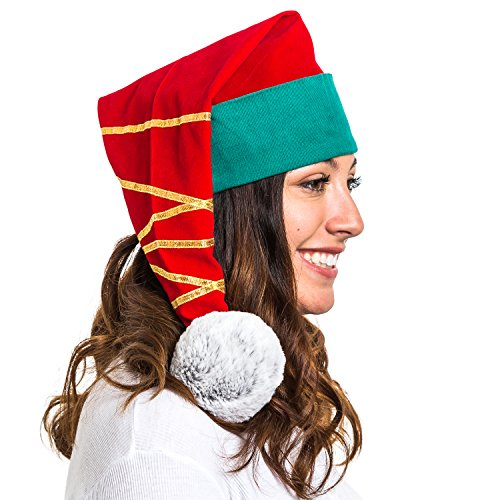 Portable North Pole Do-Good Adult Elf Hat with Personalized Video Message from (Costumes Santas Little Helper Stockings)