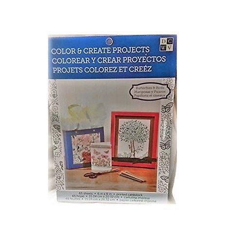 DCWV 65-Sheet Color & Create Sheet Pad - Butterflies & Birds