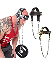 C.P. Sports lifting-hulp, hoofd- en nektrainer zwart, één maat, met ketting, verstelbare nektrainer, fitness, krachttraining