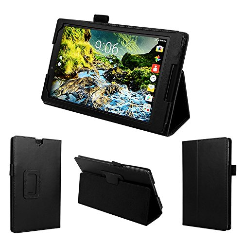 wisers 2016 Verizon Ellipsis 8 HD QTASUN1 QTASUN1B 8-inch tablet case / cover, black