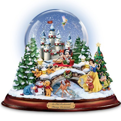 Disney Musical Snowglobe Showcasing 13 Classic Characters
