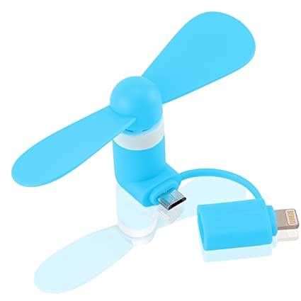 Heating, Cooling & Air Mini Cell Phone Fan Lightning Portable USB Cooling Pocket Size Dock Rotating Fan Portable Fans
