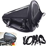 Motorcycle Bike Sports Black Back Seat Carry Storage Luggage Tail Bag Saddlebag