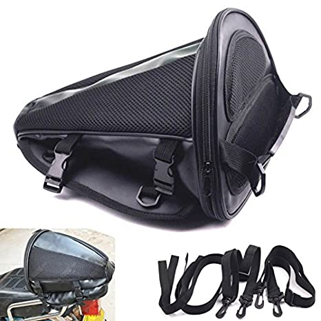 0ee9e8b8e654 Motorcycle Bike Sports Black Back Seat Carry Storage Luggage Tail Bag  Saddlebag