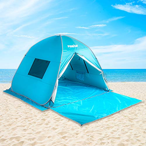 🥇 Poayhut UV50+ Deluxe Size Instant Setup Beach Tent
