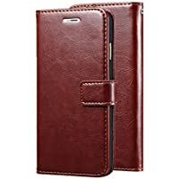 Pinaaki Enterprises Samsung Galaxy M20 Premium Quality PU Leather Vintage Flip Flap Cover Case with Stand/Wallet/Card Holder - Brown