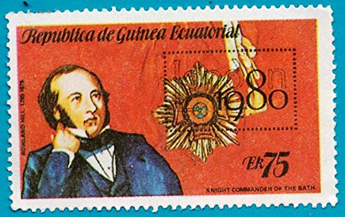 Equatorial Guinea Postage Stamp Sir Rolland Hill 75 (Used)