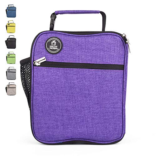 Box Purple Lunch - Insulated Lunch Box for Adults and Kids - Professional Work Lunch Bag for Men and Women - Spacious and Heavy Duty School Lunchbox for Boys and Girls (Purple)