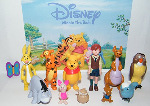 Disney Winnie the Pooh Deluxe Party Favors Goody Bag Fillers Set of 12 Figures with Eeyore, Tigger, Piglet, Honey Pot, Owl, Rabbit and More!